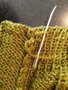 Wood House Knits Button Band Tutorial